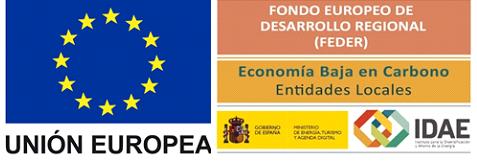 Unión Europea, Fondo Europeo de Desarrollo Regional (FEDER), Economía Baja en Carbono Entidades Locales, IDAE - Instituto para la Diversificación y Ahorro de la Energía