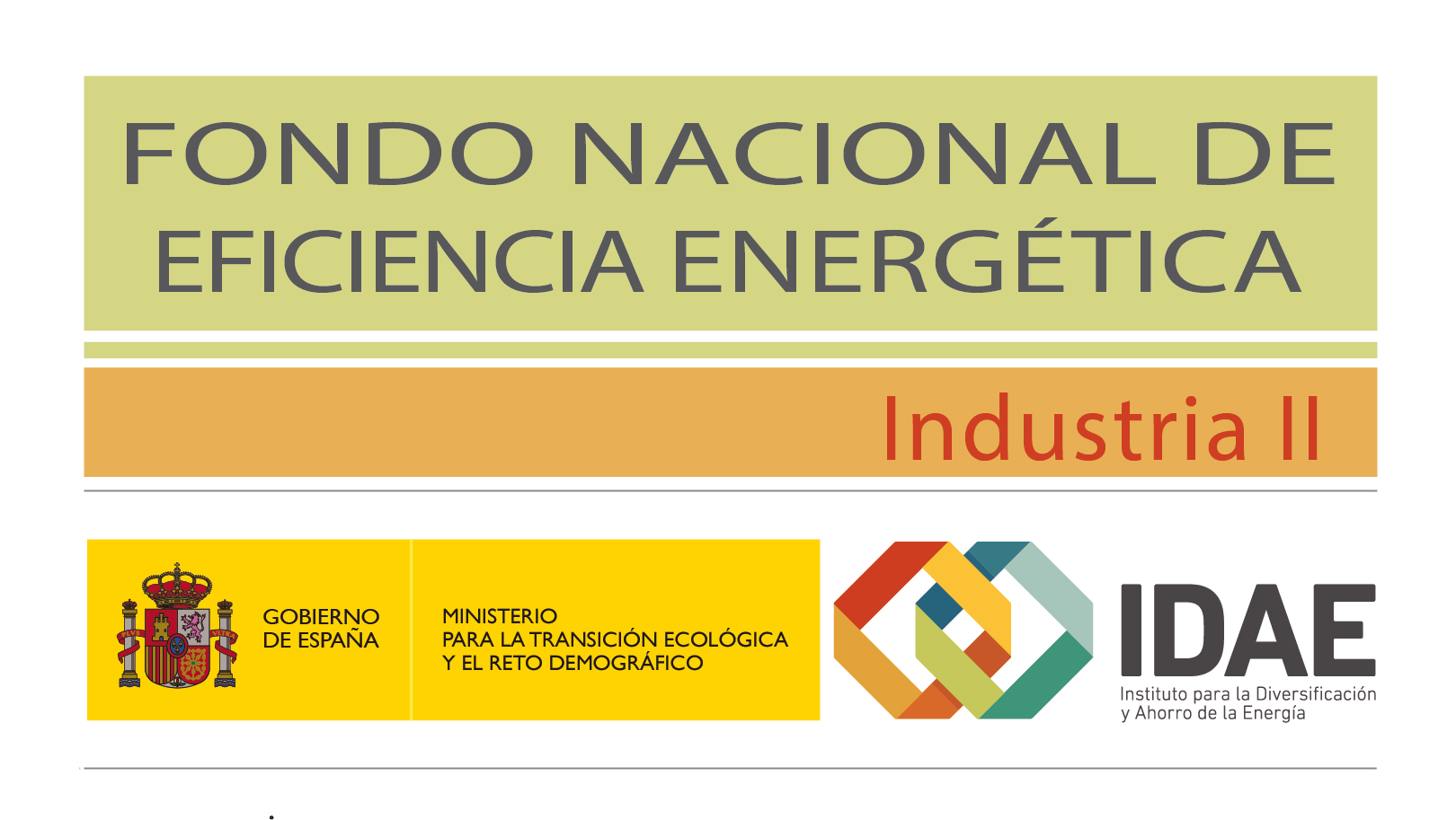 Logo Fondo Nacional de Eficiencia Energética Industria II IDAE