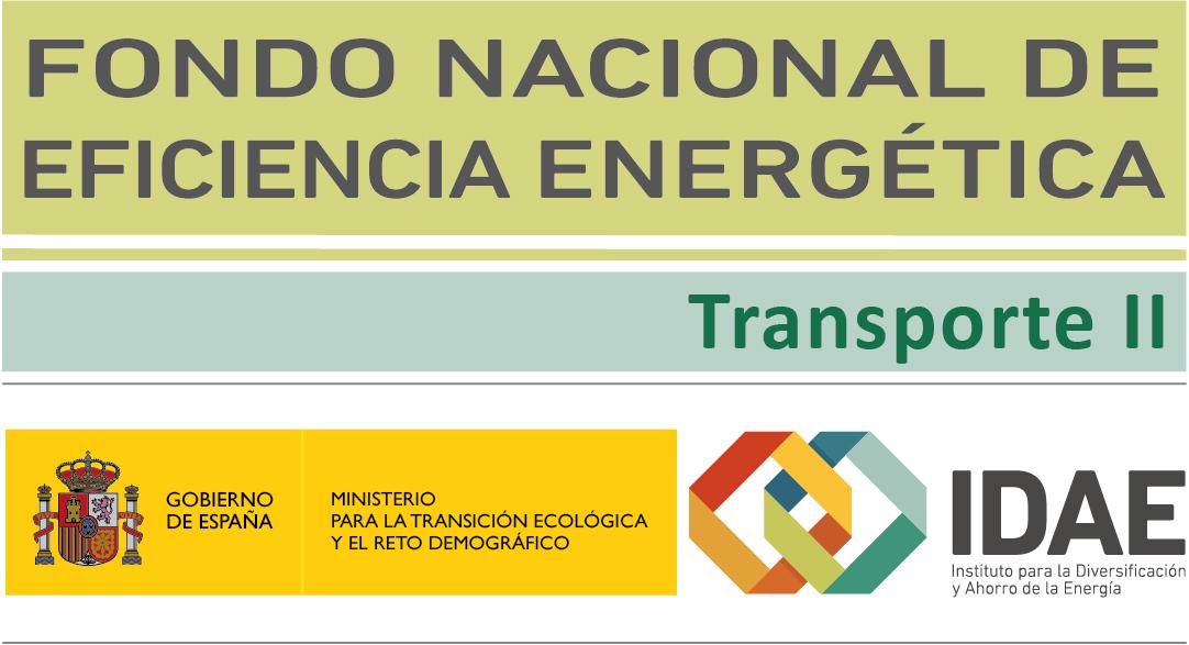 Logo Fondo Nacional de Eficiencia Energética Transporte II IDAE